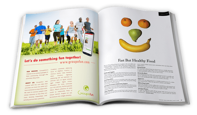 Groupofun magazine ad